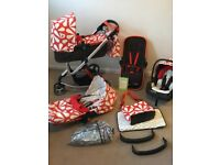 Cosatto Giggle Travel system in Sunny with lots of extras!