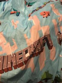 Mine craft curtains