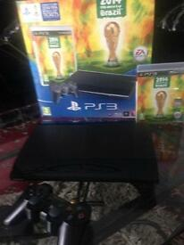 PLAYSTATION 3 BOXED AND AS NEW CONDITION WITH WORLD CUP BRAZIL 2014