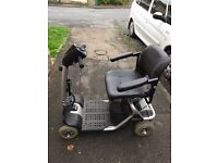 Mobility scooter good condition comes with bags, cover for scooter, needs new battery but working