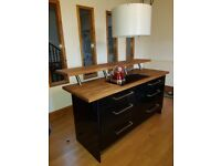 Kitchen Island with induction hob and storage drawers
