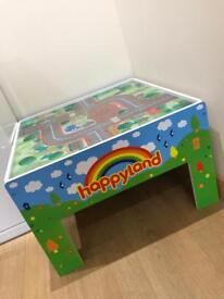 Wooden happy land kids play table
