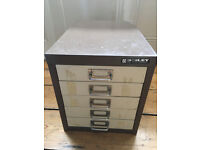 Small Bisley 5 Drawer Steel Filing Cabinet
