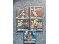 Sony PlayStation Tomb Raider Bundle 1-5 **Complete Black Label Editions**