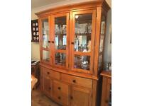 Lovely yew solid wood wall unit