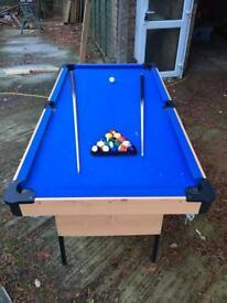 Pool table blue