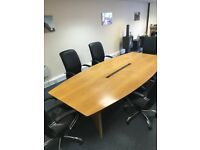 Conference / Boardroom Table - Oak