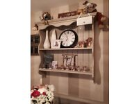 Antique style wall units custom made unpainted
