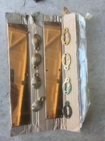 Brass door plates x2