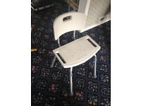Shower seat adjustable legs very good condition