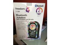 Freedom by itek bluetooth jukebox with CD player and FM radio