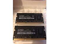 Elpida 2GB x 2 - 1Rx8 PC3 12800S 11 10 B2 - Laptop - Mac Mini Memory RAM