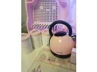Pink breville kettle & toaster set