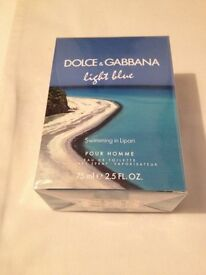 Dolce & Gabbana Limited Edition Men's Light Blue Swimming in Lipari eau de toilette 75ml.