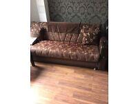 Brown bed sofa