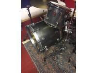 Premier Genista Silver Sparkle Drum Kit with hardcases