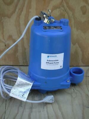 Goulds Water We0311l Submersible 13 Hp Effluent Pump No Switch Included Type