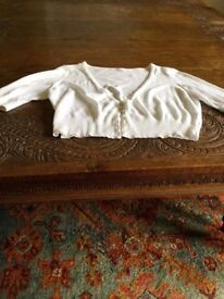White Cotton Cardigan from M and S Size 16