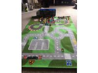 Car mat, car transporter & cars bundle