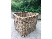 Big Wicker Cane Log Basket large - new