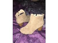 Beige Boots size 4