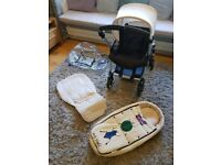 Bugaboo Bee3 Pram - White Limited Edition Andy Warhole Cocoon Plus Accessories