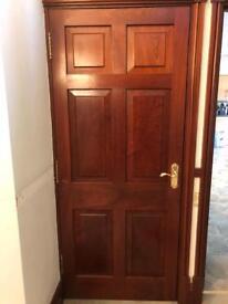 Solid mahogany doors and glass doors