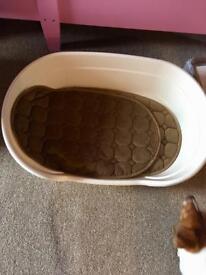 Plastic dog bed