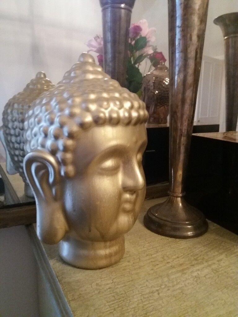 Buddha head gold coloured