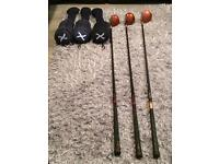 Taylormade bubble wood set and ping waterproof suit