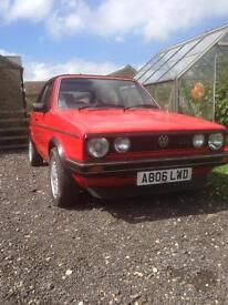 mk1 golf gti 1984 extensive service history, motd, solid car, not a rot box!! Karmann