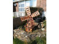 Windmill garden wood