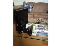 Xbox Slim, 2 controllers, 6 games + plug and play kit
