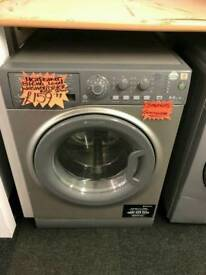 HOTPOINT 8+6KG 1400 SPIN WASHER DRYER IN SILVER