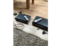 2 Sky+ HD boxes, 2 remotes and sky demand connector