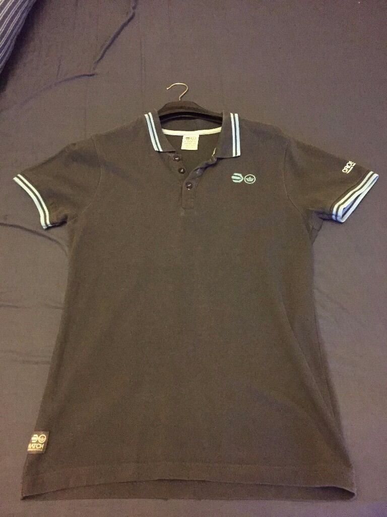 Mens Crosshatch polo shirt medium