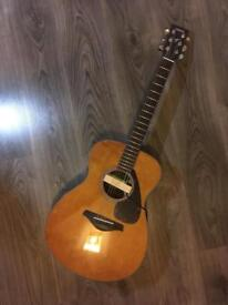 Yamaha FS800 Acoustic Guitar w/Bag, pickup, martin strings, cleaning kits