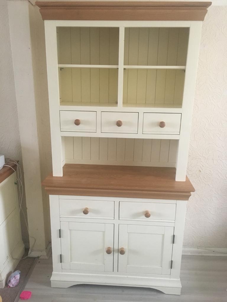 Oak Cream Dining Room Dresser