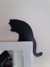 Handmade wooden cat sets (5)