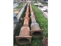 Very large cast iron uprights