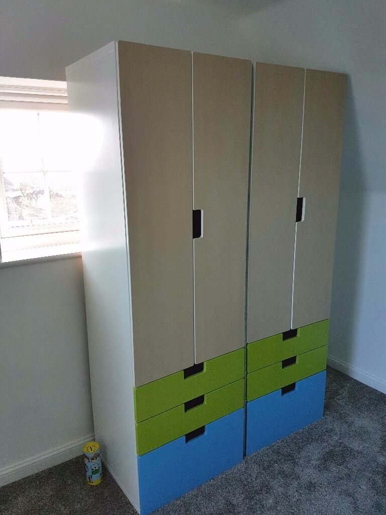 ikea stuva kids wardrobe x 2 in vgc in keynsham bristol gumtree. Black Bedroom Furniture Sets. Home Design Ideas