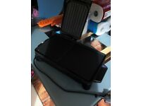 Health grill / griddle for healthy cooking even fry's -used