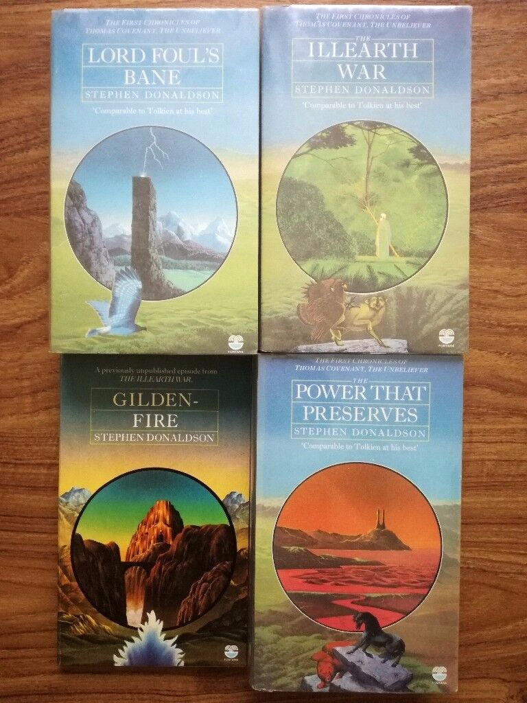 The First Chronicles of Thomas Covenant - Stephen Donaldson. Set of 3 plus 'Gilden-Fire'
