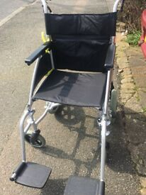 Folding wheelchair hardly used