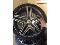 22'' MERCEDES BENZ 4 ALLOYS WITH GOOD TYRES !! BARGAIN !!