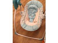 Baby blue musical swing seat