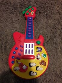 Wiggles toy guitar with sound £5