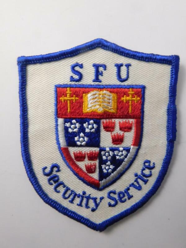 SIMON FRAZER UNIVERSITY SECURITY VINTAGE PATCH BADGE SFU BC CANADA POLICE