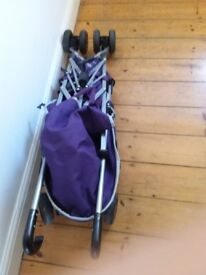 Pushchair and cover/raincover for sale. Hardly used. £30