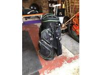 Golf cart trolley bag, balls, putter